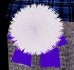 Fluffy Bunny Tail with Bow