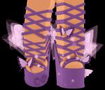 Sky High Ballet Butterfly Heels