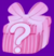 Pink mystery box icon