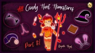 ALL Homestore Candy Locations Part 1! Royale High Halloween Event 2019