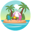 Sunset Island Here From Day 1 Badge