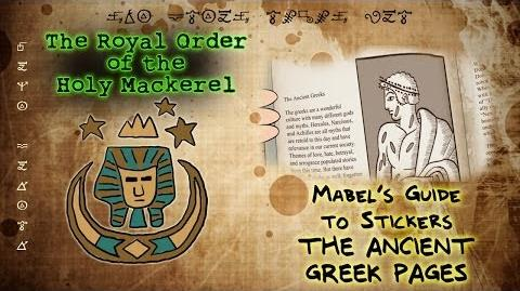 MABEL'S GUIDE TO STICKERS - THE ANCIENT GREEK PAGES The Royal Order of the Holy Mackerel