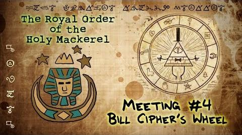 BILL CIPHER'S WHEEL (GRAVITY FALLS) The Royal Order of the Holy Mackerel
