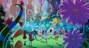 Wonderland Grove in its splendour - Maddie's Hat-Tastic Party