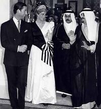Diana and Charles meeting with King Fahd