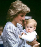 Diana with baby Prince Henry