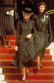 Princess Diana at Grace of Monaco's funeral