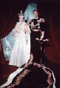 Coronation image of Elizabeth and Philip