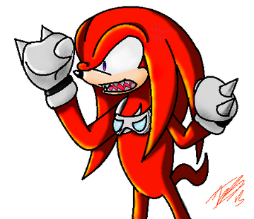 Knuckles -Did she say 'Red Mutt'