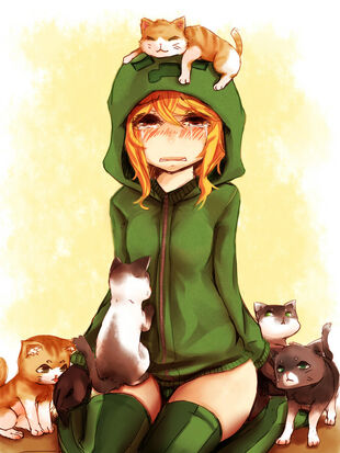 Minecraft-Creeper-Girl-Cupa-Kittys-minecraft-32954333-811-1081