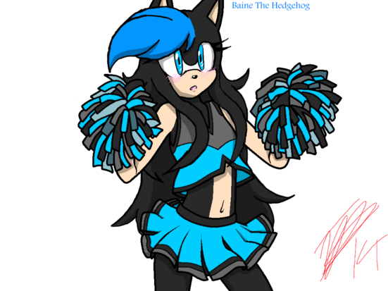 Based used - Baine the Hedgehog as a cheerleader