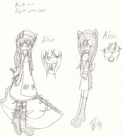 Alisa and her demon form, Alice