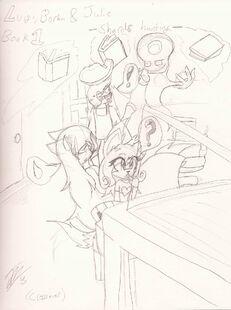 Cover for book 1 Luigi, Borka & Julie -Shards hunting-