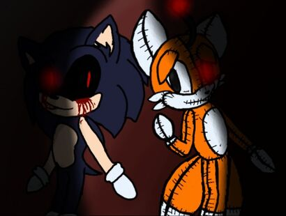 SonicEXE and Tails doll 1