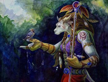 Tauren druid by mushrushu-d1exgeb