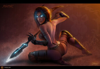 Abris night elf warrior by tamplierpainter-d4guzec