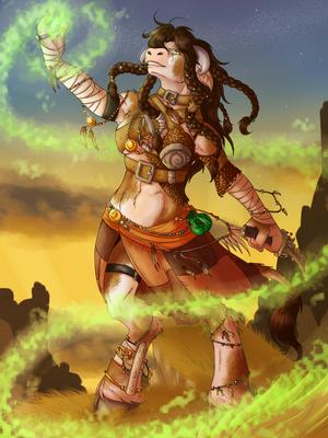 Commission tauren shaman by celestialess-d5hdklb