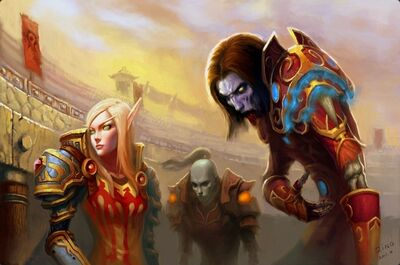 World of warcraft blood elf undead fantasy art artwork 2000x1326 wallpaper www.wallpaperfo.com 33