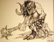 Dark troll concept art
