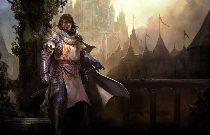 Castles knights human armor logan artwork guild wars 2 7200x4653 wallpaper www.wall321.com 4