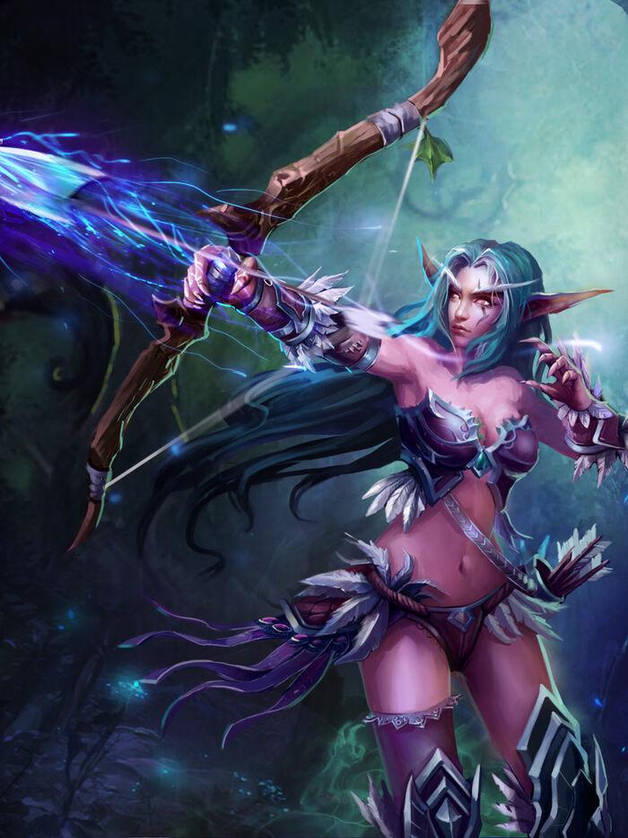 Elf archer by robekka-d5que7n