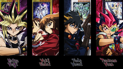 Yu gi oh main protagonists wallpaper by kaitouyahiko-d4g900c