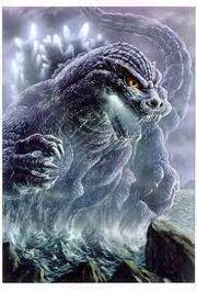Godzilla breathing fire