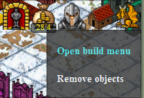 Open build menu
