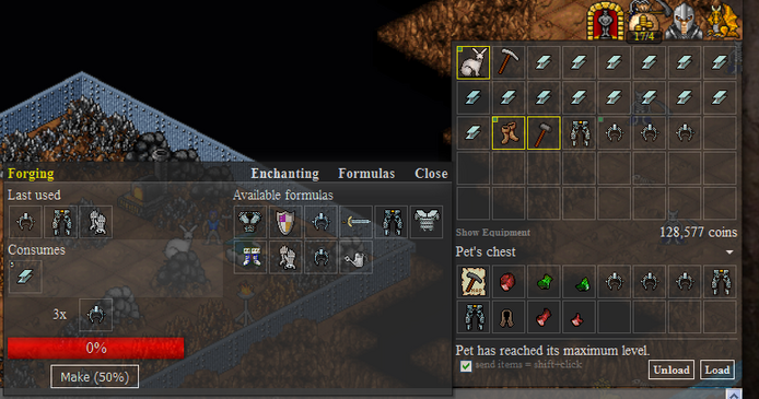 Anvil Crafting Interface