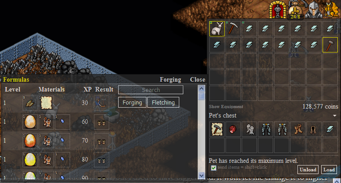 Anvil Fletching Interface