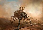Human riding kank