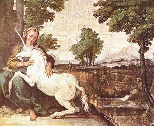 Virgin and Unicorn