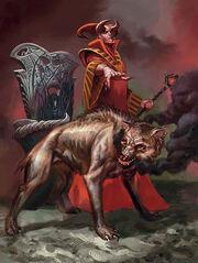 Asmodeus with hellhound