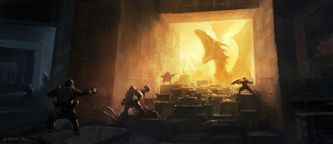 Dragon awake