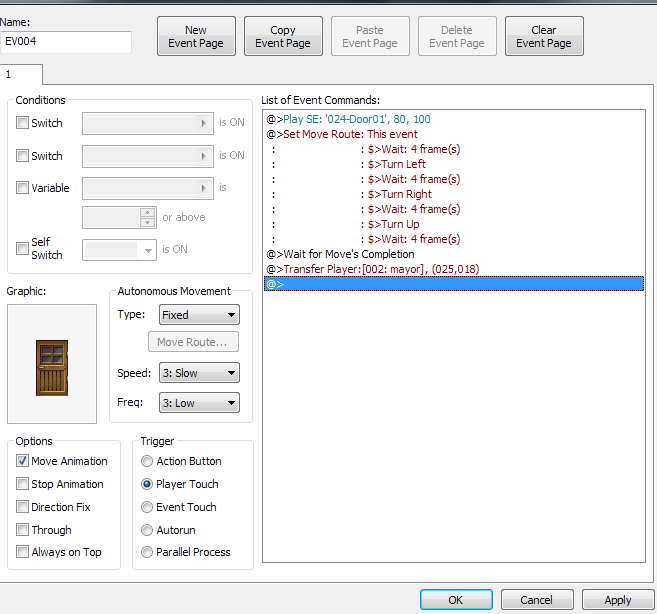 RPG Maker XP Tutorial: Creating a Door  | RPG Maker XP Wiki