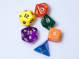 Dice (typical role-playing game dice)