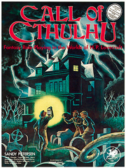 Call of Cthulhu 1st edition boxed set cover (2nd printing)
