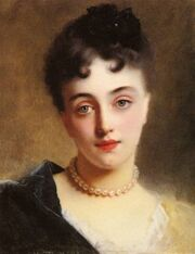Gustave-Jacquet-An-Elegant-Lady-with-Pearls-Oil-Painting
