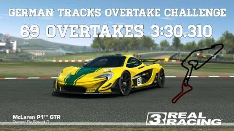 RR3 German Tracks Overtake Challenge 3sec per Overtake Real Racing 3-0