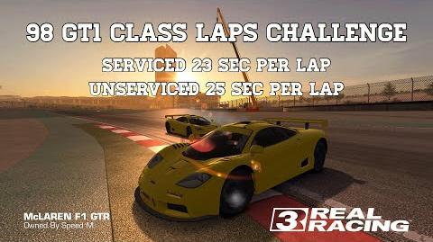 Real Racing 3 98 GT1 Class Laps Challenge 23 Sec Per Lap Including Unserviced Run RR3-1527902152