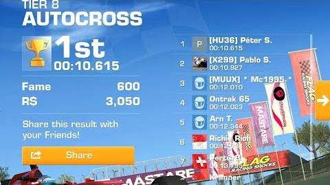 Real Racing 3 next tc All Catalunya Club Circuit autocross. The fastest is the f14t