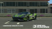 Black and Green Huracan R3 Spec