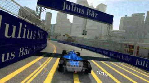 Wall hitting Formula E Hong Kong Track- Real Racing 3