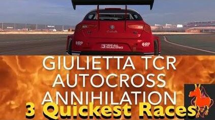 Real Racing 3 RR3 Giulietta TCR Autocross Annihilation 3 Quickest Races