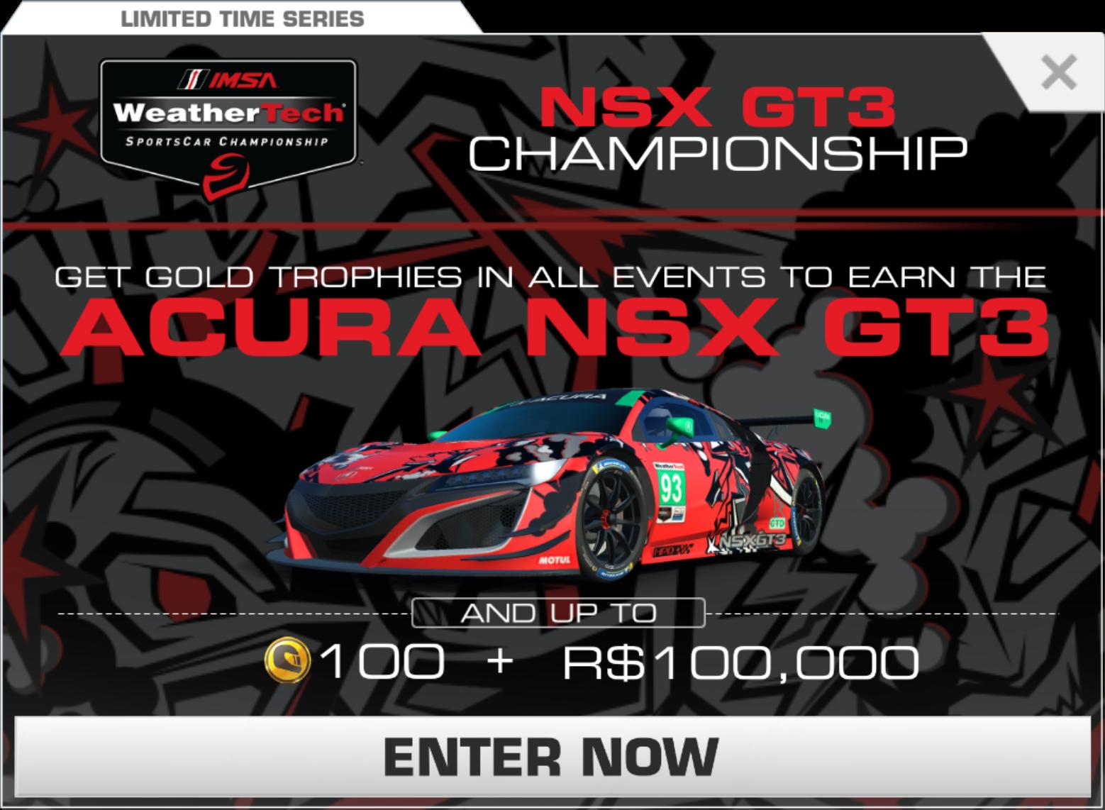 Acura nsx gt3 championship