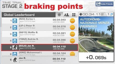 !!braking points!! WTTT Monza Junior Course 00 34,112 Jaguar C-X75 R3 Spec