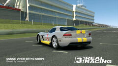 Yellow Squadron Viper SRT10 Coupe (Back)