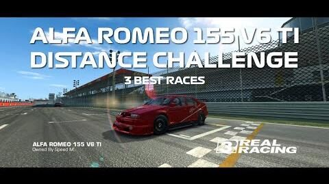 Real Racing 3 Alfa Romeo 155 V6 TI Distance Challenge 3 Best Races