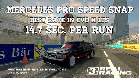 Real Racing 3 Mercedes Pro Speed Snap Challenge Best Race In Evo II LTS 14.7 Sec