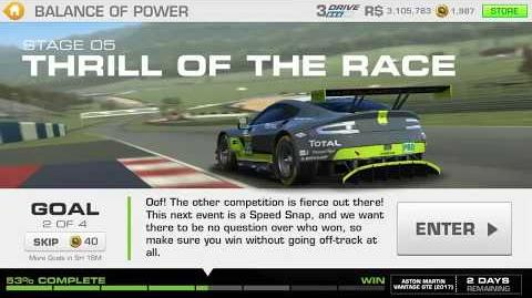 Balance of Power, Stage 5 Race 2, 3131111 Upgrades